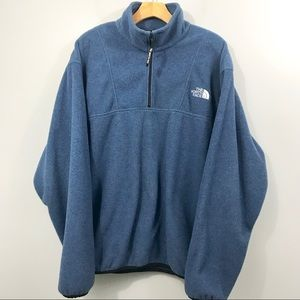 The North Face 1/4 Zip Fleece Pullover Blue